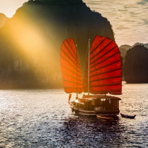The wonderful Halong Bay, Unesco world heritage in Vietnam
